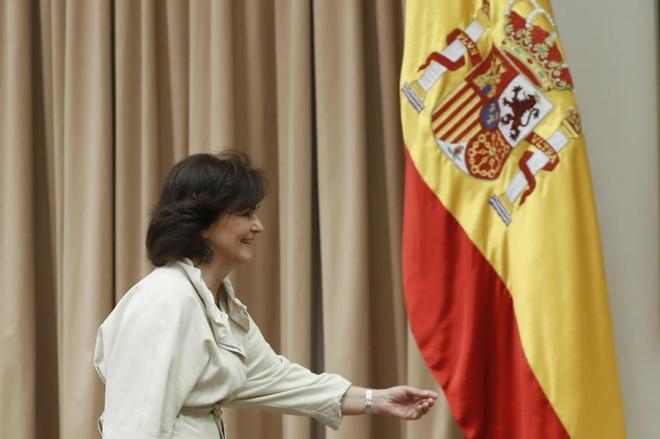 La vicepresidenta del Gobierno Carmen Calvo.