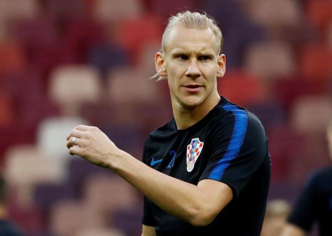 El Futbolista Croata Vida Durante El Entrenamiento Con Su Seleccion En Moscu Kai Pfaffenbachreuters