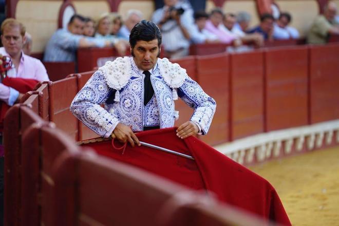 Morante de la Puebla, durante su última comparecencia, el pasado año, en el coso portuense