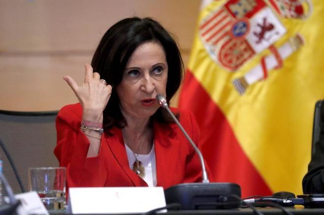 Margarita Robles, en una rueda de prensa celebrada recientemente en...