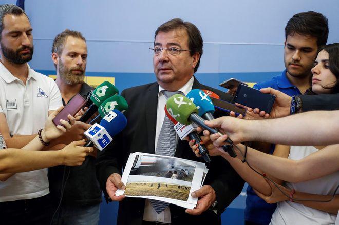 El presidente de la Junta de Extremadura, Guillermo Fernández Vara,...