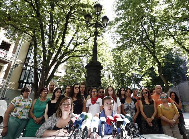 Rueda de prensa del colectivo feminista de Navarra el pasado 3 de...