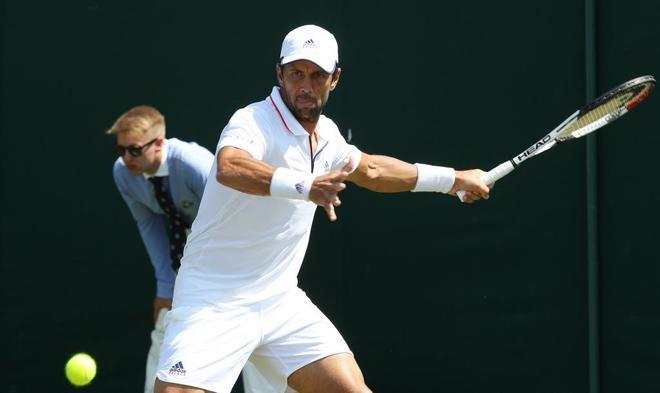 Fernando Verdasco, durante el partido de la primera ronda del torneo de Wimbledon.