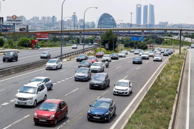 Carretera de Burgos, en sentido salida de Madrid, el pasado mes de junio.