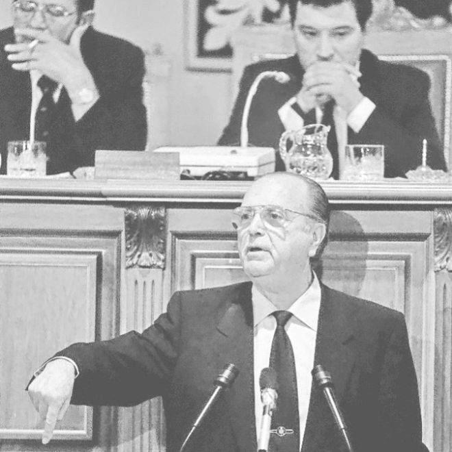 El ex presidente de la Xunta de Galicia Gerardo Fernández Albor en...