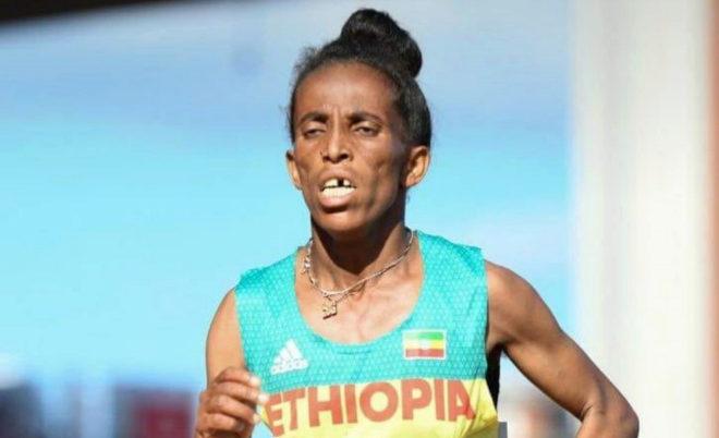 La atleta etíope Girmawit Gebrzihair, durante el Mundial sub'20 de...