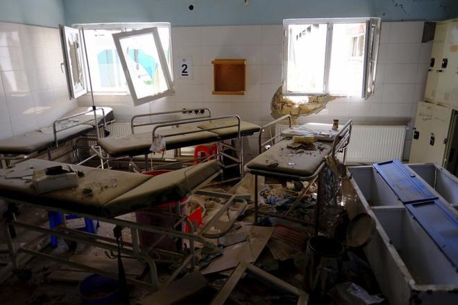 Aspecto de una de las dependencias del hospital de Kunduz tras el ataque.