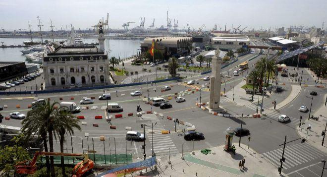 Panorámica del circuito urbano de Fórmula 1 en Valencia.