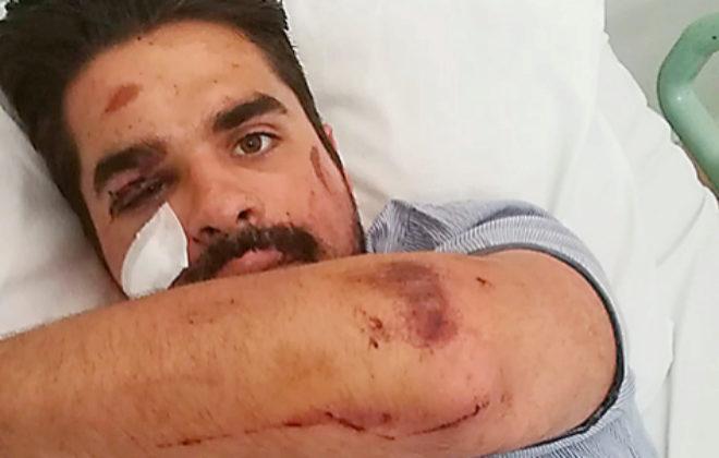 Víctor, en el hospital indonesio después de ser operado