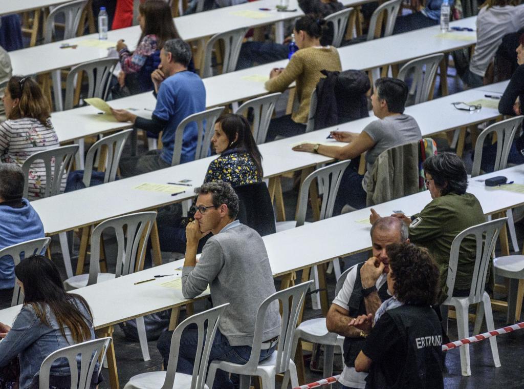 Uno de los exámenes de la OPE de Osakidetza.