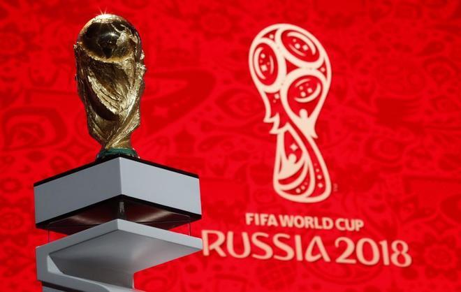 El trofeo de campeón del mundo, preparado en Moscú.