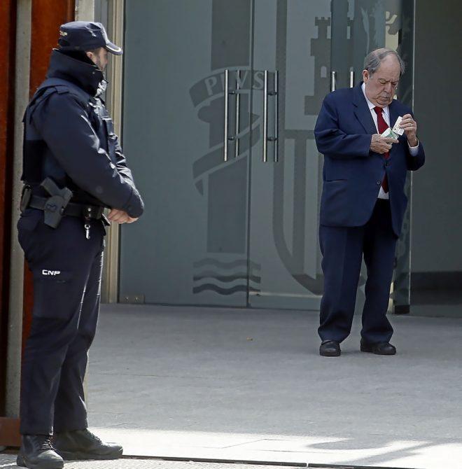 Lluís Prenafeta, en la Audiencia Nacional en marzo de 2017.
