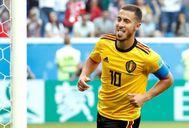 Eden Hazard celebra su segundo gol ante Inglaterra.