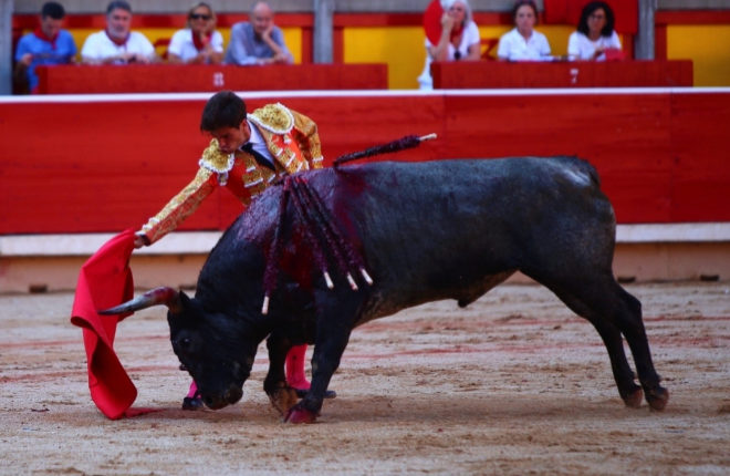 La solvencia y una gran estocada de Rubén Pinar le