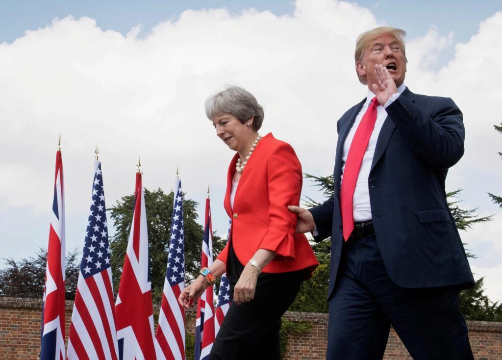 Trump sugirió a May que llevara a los tribunales a la UE, a la que ...