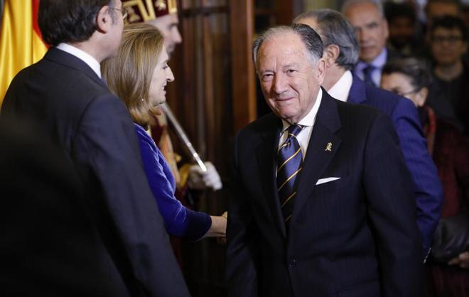 Félix Sanz Roldán, el Día de la Constitución de 2017 en el...