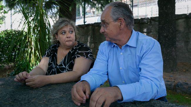 Raquel Alonso y Joaquín Echeverría, durante su encuentro.