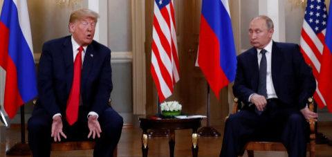 Donald Trump y Vladimir Putin se encuentran en Helsinki.