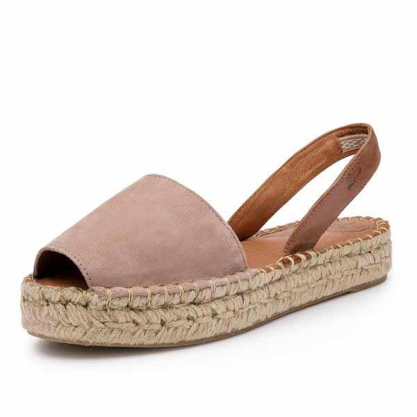 1. Alpargatas color cuero, de Alohas Sandals