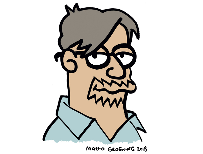 Autorretrato de Matt Groening, en exclusiva para 'Papel'.