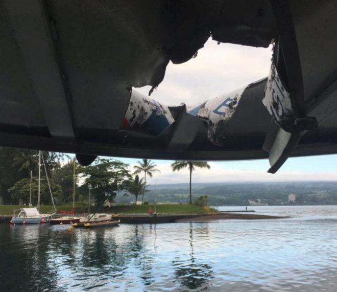 Una bomba de lava impacta con un barco turístico en Hawai y deja al menos 23 heridos