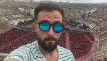 El redactor, en la Arena de Verona, después de una siesta en las...