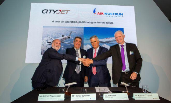 Air Nostrum se fusiona con la irlandesa CityJet para crear el mayor grupo europeo de aviación regional