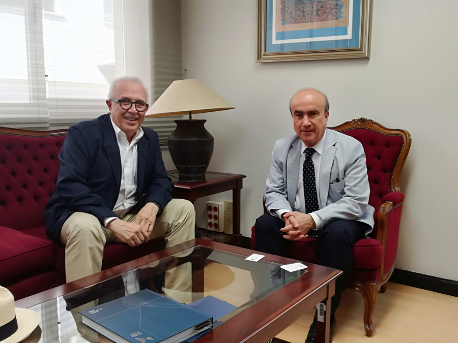 José Sánchez Maldonado y Mariano Jabonero durante su reunión en Madrid.