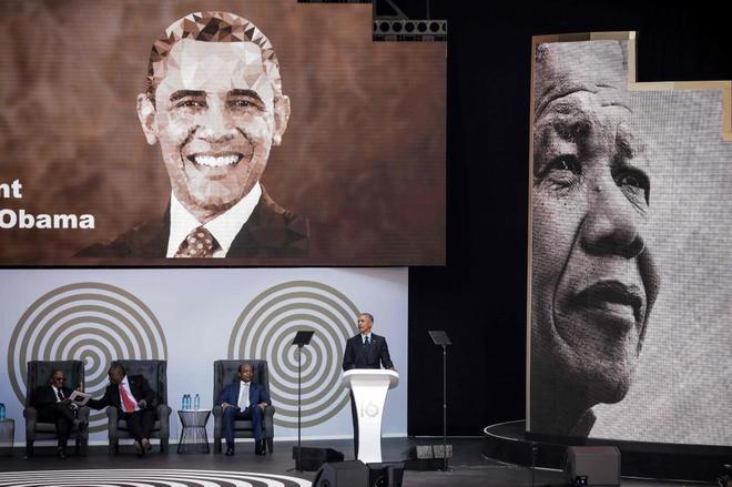 El ex presidente durante la Conferencia Anual Nelson Mandela en Johannesburgo.
