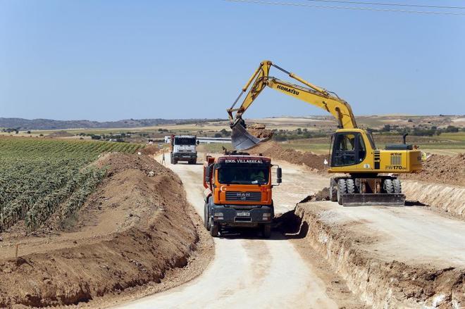 Imagen de archivo de las obras para la instalación del almacén de residuos nucleares en Vilar de Cañas.