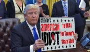 Una de las imágenes de la campaña de troleo a Donald Trump en su...