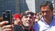 Luis Alfonso de Borbón, el pasado domingo en el Valle de los Caídos...