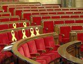 La sesión de ayer del Parlament se disolvió tras el enfrentamiento...