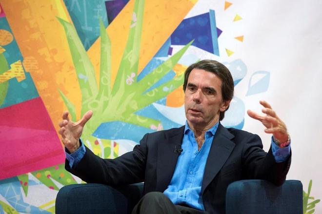 José María Aznar, este miércoles en los cursos de verano de la Universidad de Málaga.