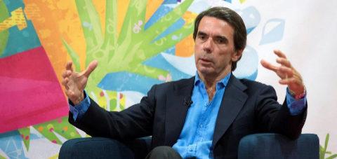 José María Aznar, este miércoles en los cursos de verano de la...