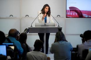 La líder de Ciudadanos, Inés Arrimadas, en el Parlament.