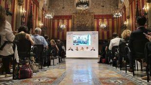 Rueda de prensa sobre ISE en el Ayuntamiento de Barcelona.
