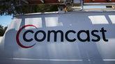 El logotipo de Comcast, en una furgoneta, en Miami.