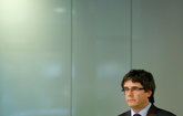 Carles Puigdemont, ayer, en Berlín.
