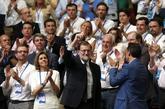 El ex presidente del Gobierno, Mariano Rajoy, en el Congreso del PP