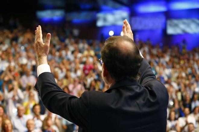 Mariano Rajoy, ante la ovación de un auditorio emocionado.