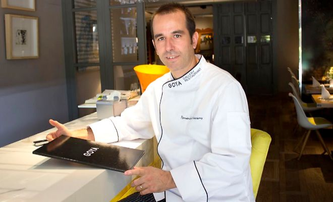El chef Fernando Navarro.