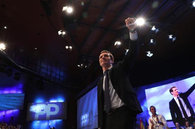 El nuevo presidente del Partido Popular, Pablo Casado