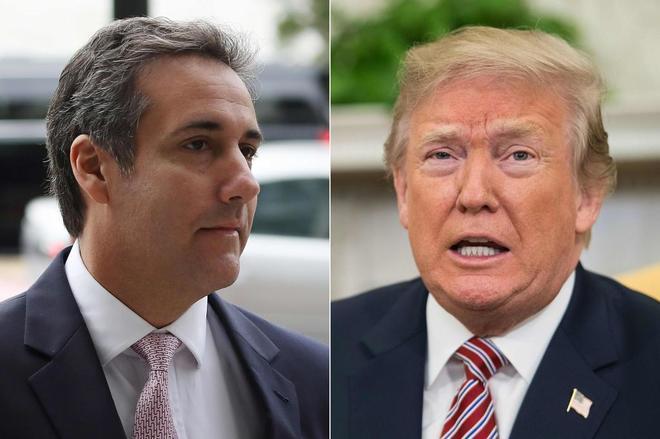 El abogado personal de Trump, Michael Cohen, y el presidente.