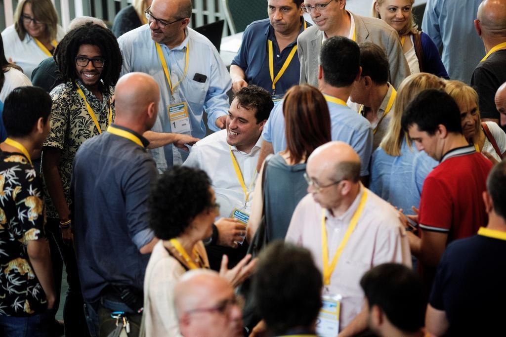 David Bonvehí, en el centro de la imagen, presidirá la dirección del PDeCAT