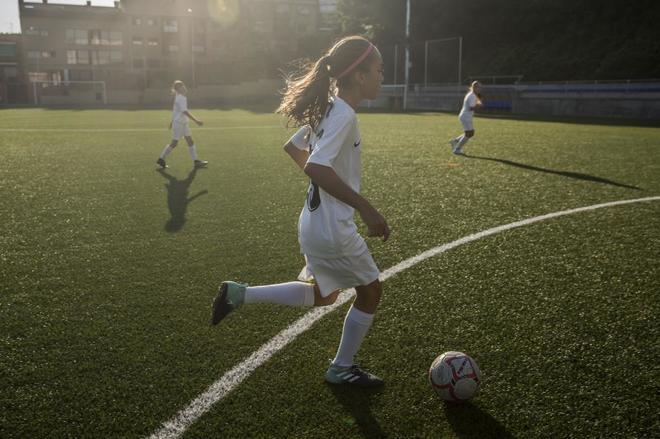 b035bfae58286 Varias de las jugadores del Alevín A del equipo Madrid Club de Fútbol  Femenino