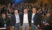 De izquierda a derecha, Pablo Casado, Juan Manuel Moreno y José...