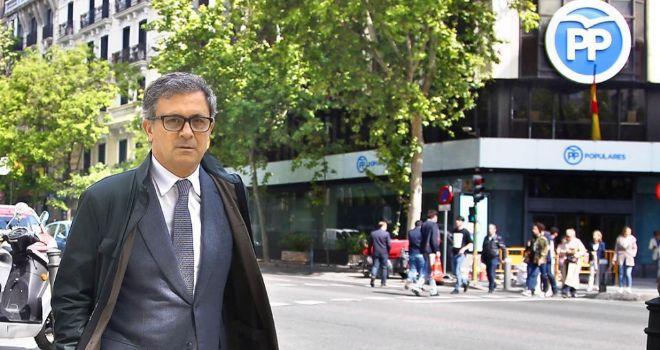 Jordi Pujol Ferrusola, en una de sus comparecencias en la Audiencia...