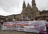 Manifestación en Santiago de víctimas del Alvia para marcar los...