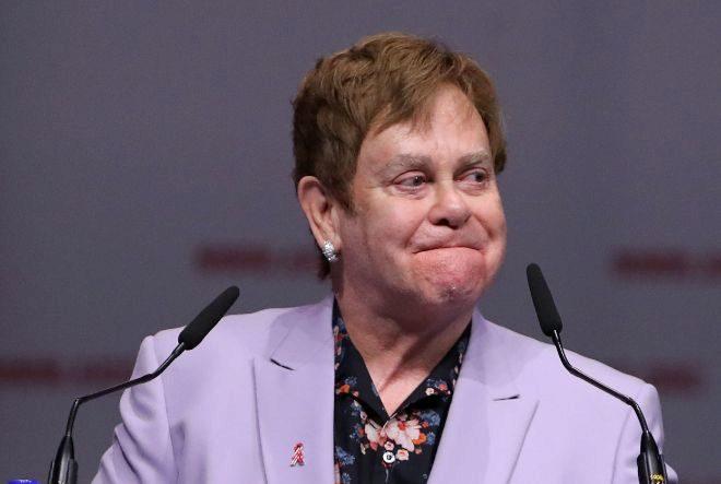 El cantante británico Elton John, en la Coferencia Internacional del Sida, en Holanda.